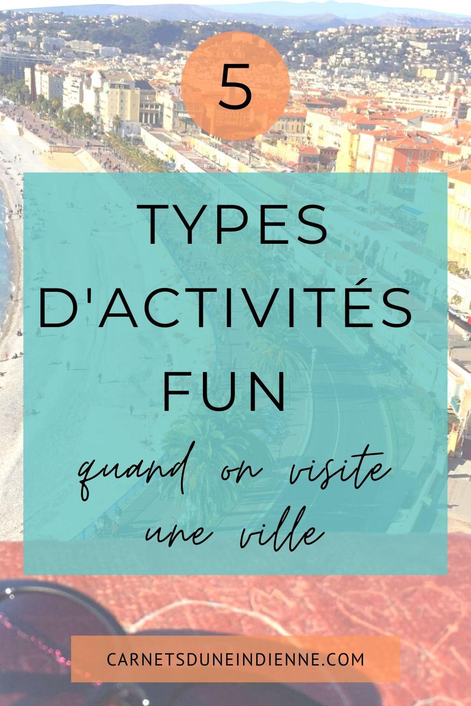 épingle pinterest : 5 types d'activités fun quand on visite une ville