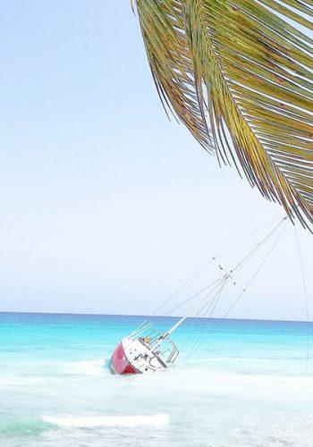 Plage de sable blanc à Punta Cana, Isla Saona