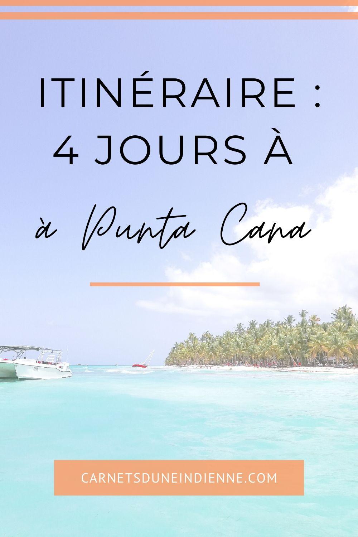 épingle pinterest : 4 jours à Punta Cana