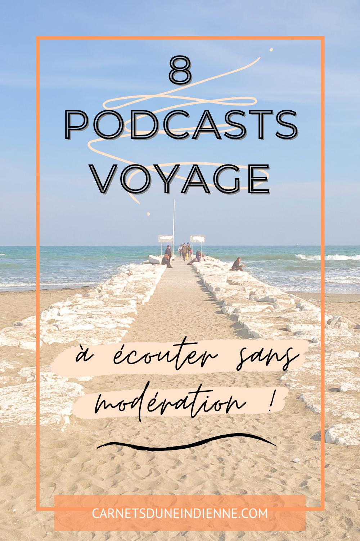 podcasts voyage - épingle pinterest 1