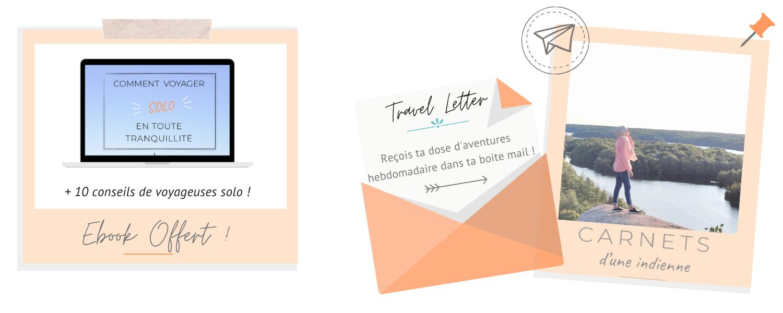 Travel letter et ebook offert